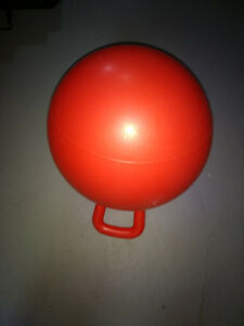 Red bouncing ball