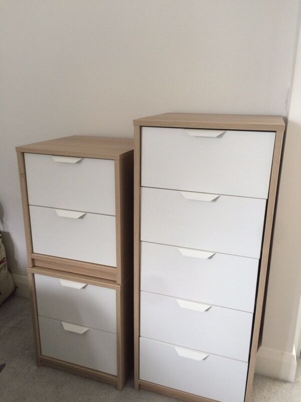 Ikea Chest Draws Askvoll And 2 Bedside Tables Askvoll In