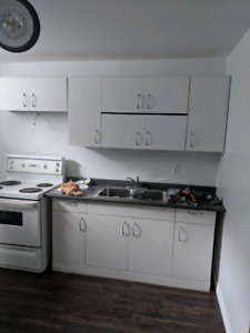 Kitchen cabinets and working stove