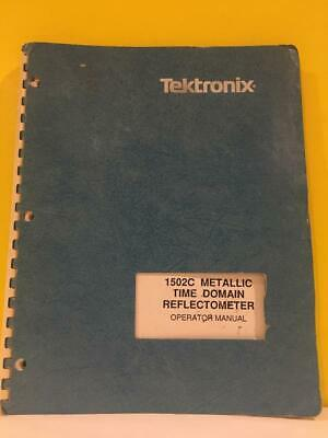 Tektronix 070-7169-00 1502c Metallic Time Domain Reflectometer Operator Manual