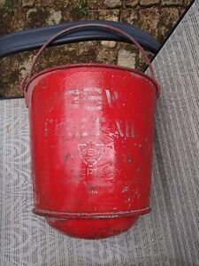 Vintage  RED Fire Bucket -GSW-JUST REDUCED