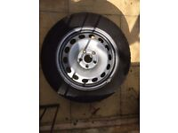 Vw steel wheel tyre 16