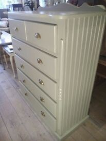 Big painted Chest of Drawers.