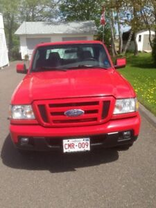 2007 Ford Ranger red Pickup Truck  negotialrble