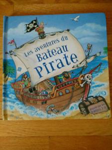 3-d pop up book - french - livre en francais - pirate