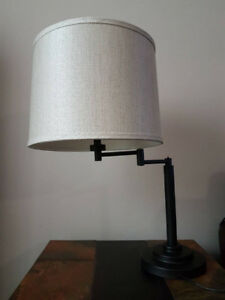 Table lamp, 1 stand and 2 shades