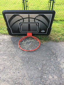 lifetime basketball backboard plus hoop 25$