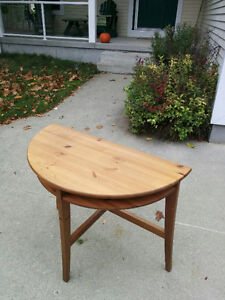 Ikea Half Round Drop Leaf table and Wall Cabinet - PRICE DROPPED Cambridge Kitchener Area image 3