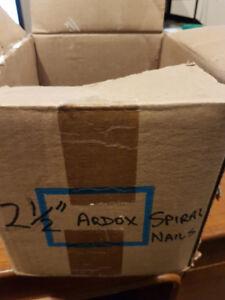 """2 1/2"""" Ardox standard spiral nails - 25lb box"""