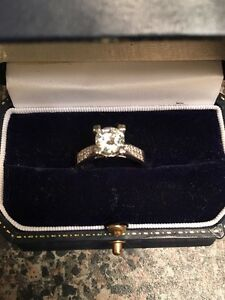 1.25 Carat Center Moissanite Engagement Ring