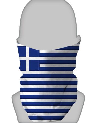 GREEK FLAG DESIGN FACEMASK GREECE NECKTUBE NECK WARMER SNOOD L&S PRINTS
