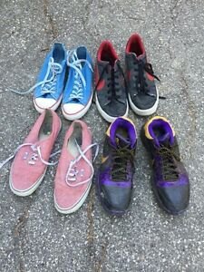 Lot of 4 pairs of shoes Nike/Vans/Converse