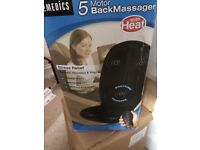 Heated back and leg massager