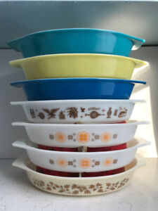 Vintage Pyrex Divided Casserole Dishes