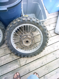 Drz 18/21 rims, tires and rear rotor