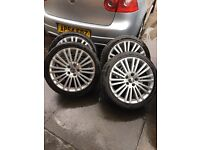 "Golf mk5 R32 18"" alloys with basically brand new tyres 5 stud"