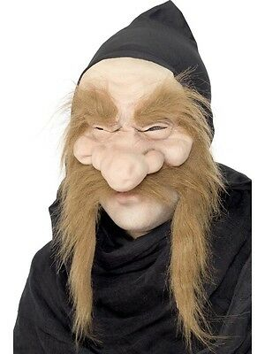 Creepy Halloween Costumes Old (Latex Old Man Mask Creepy Face Halloween Costume Wrinkled Skin Beard)