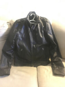 Guess Mens Giani Moto Leather Jacket Brand new size Small
