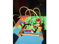 Bead threading toy