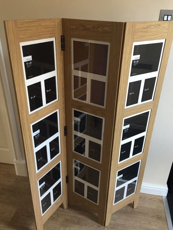 floor standing photo frame screen from next in euxton. Black Bedroom Furniture Sets. Home Design Ideas