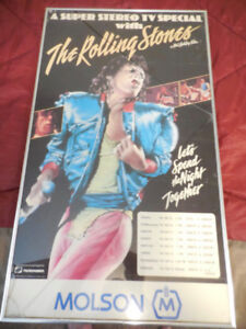 VERY VERY RARE, ROLLING STONES POSTER, ONLY ONE IN THE WORLD.