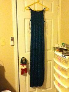 Blue Sparkling Long Evening Dress (Mint Condition)