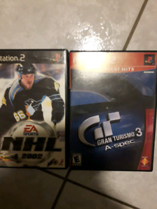 SONY PS2 GAMES NHL 2002 GRAND TURIZMO 3
