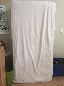 Pillow top mattress 9 inches thick stored in mattress protector