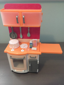 American Girl-style play kitchen