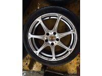 "17"" WOLFRACE ALLOY WHEELS ACCORD CIVIC TYPE R TOYOTA HONDA SET OF 4"