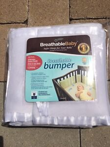 Breathable baby crib bumper