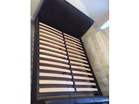 House Of Fraser King Size: Lisbon Brown Faux Leather Upholstered Bed Frame