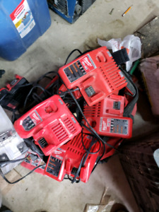 Milwaukee M12 and M18 chargers
