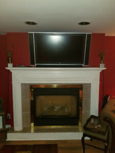 Tradition Gas Fire Place Mantel!!!!!!