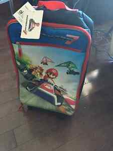 MARIO ROLLING SUITCASE NWT & Mario Swim shorts sizes 7/8- 10/12 Kitchener / Waterloo Kitchener Area image 1
