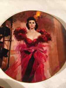 Gone with the Wind Collector Plates 50th Anniversary Entire Set