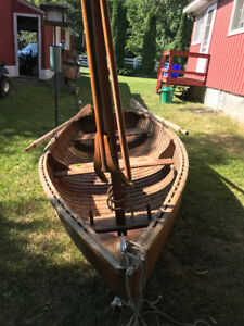 Peterborough Cedar Sailboat