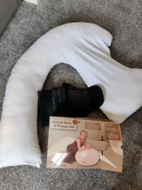 Pregnancy bundle: pregnancy pillow, birthing ball & pregnancy belt