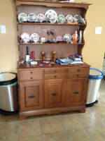 Solid Wood - Buffet, Hutch, Table, Leaf and 4 Chairs