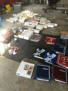 sports cards and card binders