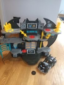 Imaginext bat cave and batmobile