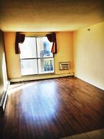 Oct. 1. Top floor River Heights condo with in suite laundry!!!!