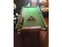 Le club bce 2in1 snooker and pool table