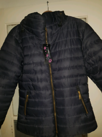 Ladies new padded navy jacket 36 in chest