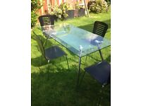 For Sale - Glass Table and 4 Chairs