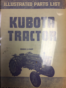 Illustrated Parts List for Kubota Tractor Model L-260P