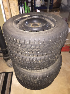 Studded Winter Tires and Rims - P185/65R14