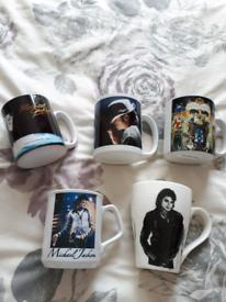 Selection of Michael Jackson Mugs £4.50 each or £15 for set