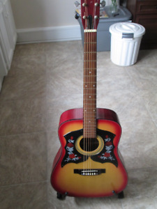 50 year old Marlin Acoustic Guitar and original Hard Shell Case