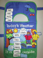 Weather Bear Chart Apron - with 30 pieces for Class or Home